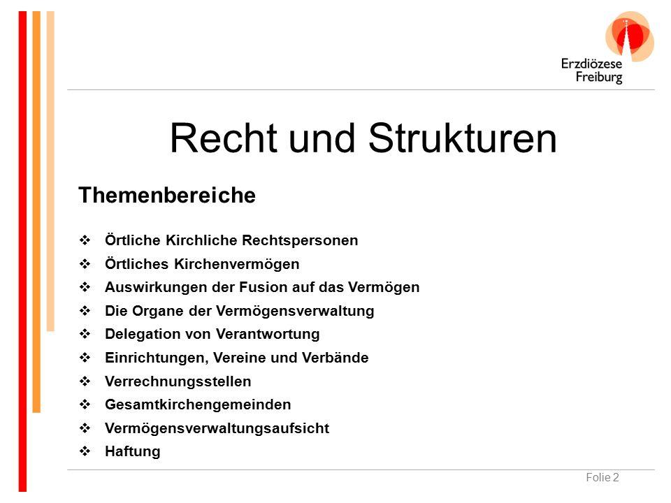 Folie 3 Örtliche kirchliche Rechtspersonen Kirchengemeinde (§ 5 ff.