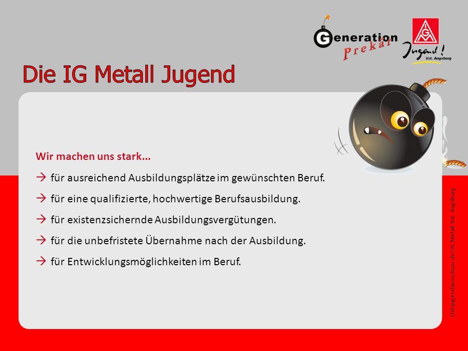 Ortsjugendausschuss der IG Metall Vst. Augsburg Wir machen uns stark...