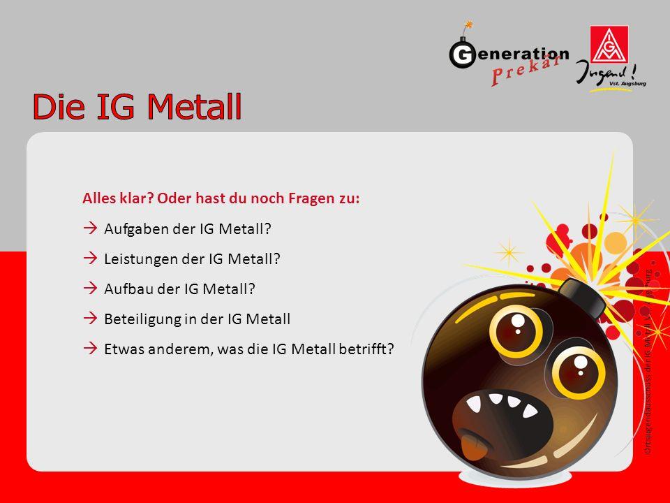 Ortsjugendausschuss der IG Metall Vst. Augsburg Alles klar.