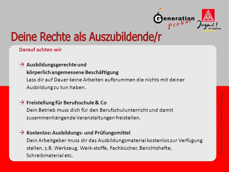Ortsjugendausschuss der IG Metall Vst.Augsburg Profit vs.