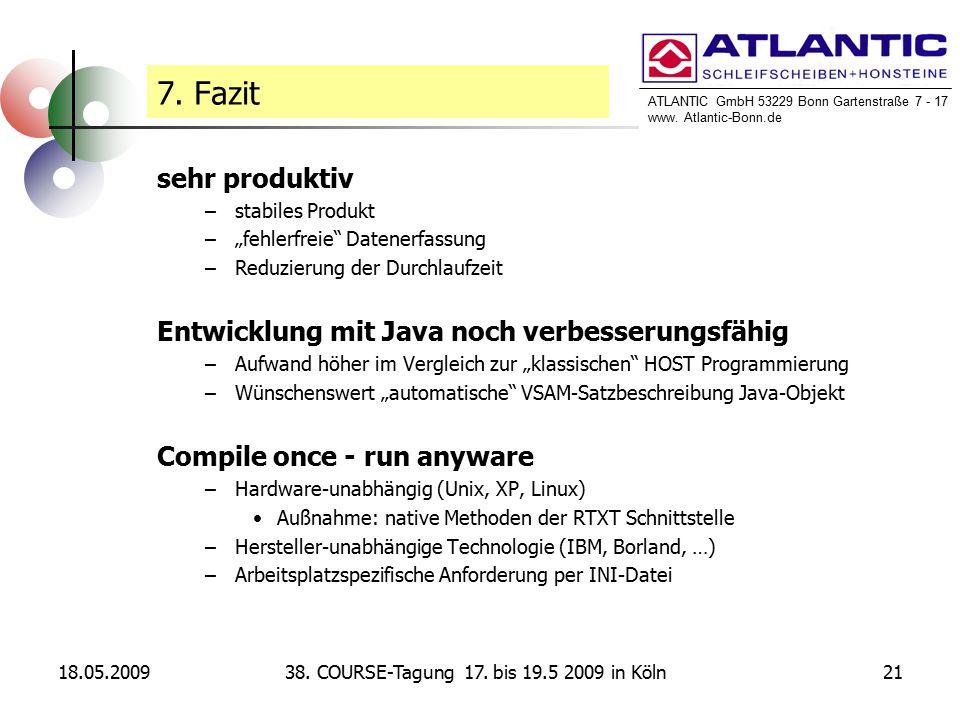 ATLANTIC GmbH 53229 Bonn Gartenstraße 7 - 17 www. Atlantic-Bonn.de 18.05.20092138.