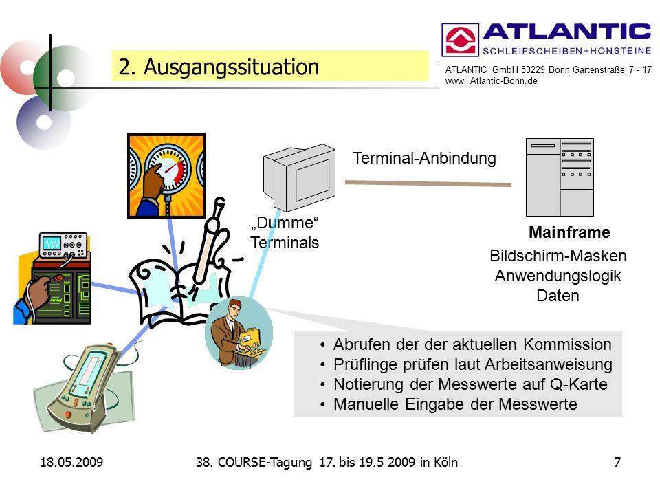 ATLANTIC GmbH 53229 Bonn Gartenstraße 7 - 17 www. Atlantic-Bonn.de 18.05.2009738. COURSE-Tagung 17. bis 19.5 2009 in Köln 2. Ausgangssituation Mainfra
