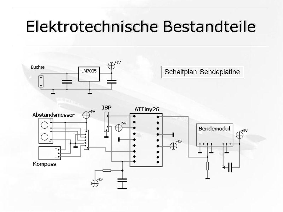 Elektrotechnische Bestandteile Schaltplan Sendeplatine