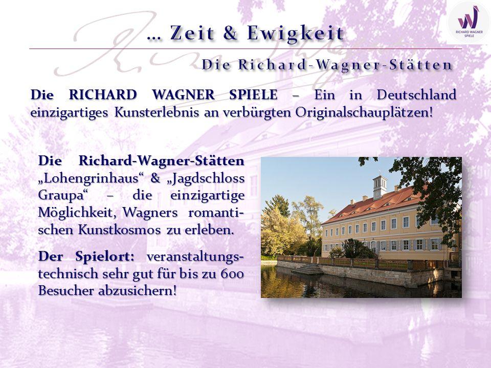 Die RICHARD WAGNER SPIELE – Ein in Deutschland einzigartiges Kunsterlebnis an verbürgten Originalschauplätzen! Der Spielort: veranstaltungs- technisch