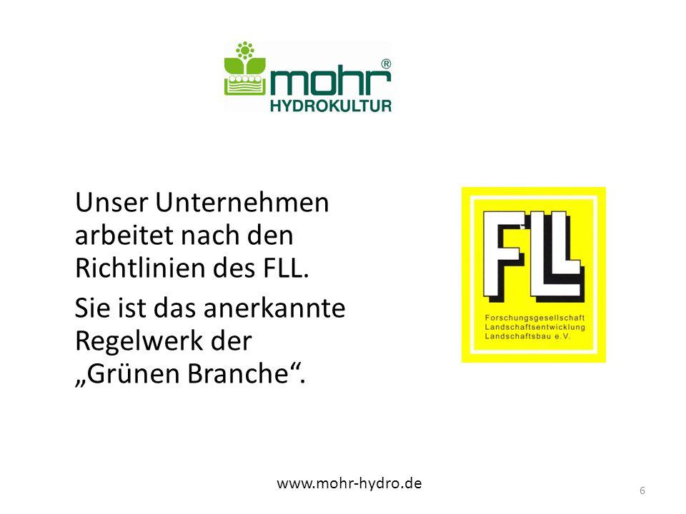 Unser Unternehmen arbeitet nach den Richtlinien des FLL.