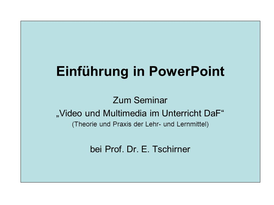 PowerPoint – Kommentar einfügen I