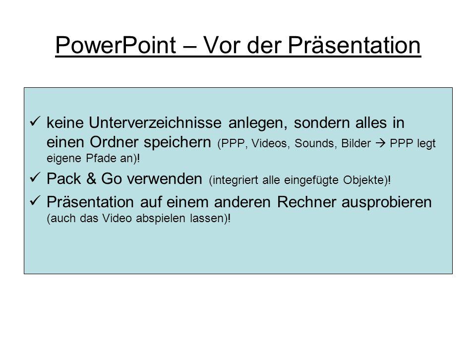PowerPoint – Kommentar einfügen II Icon: Kommentar einfügen Kommentare anzeigen oder ausblenden (während der Präsentation) Kommentar löschen Nächster