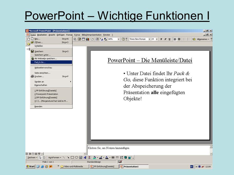 PowerPoint – Die erste Folie
