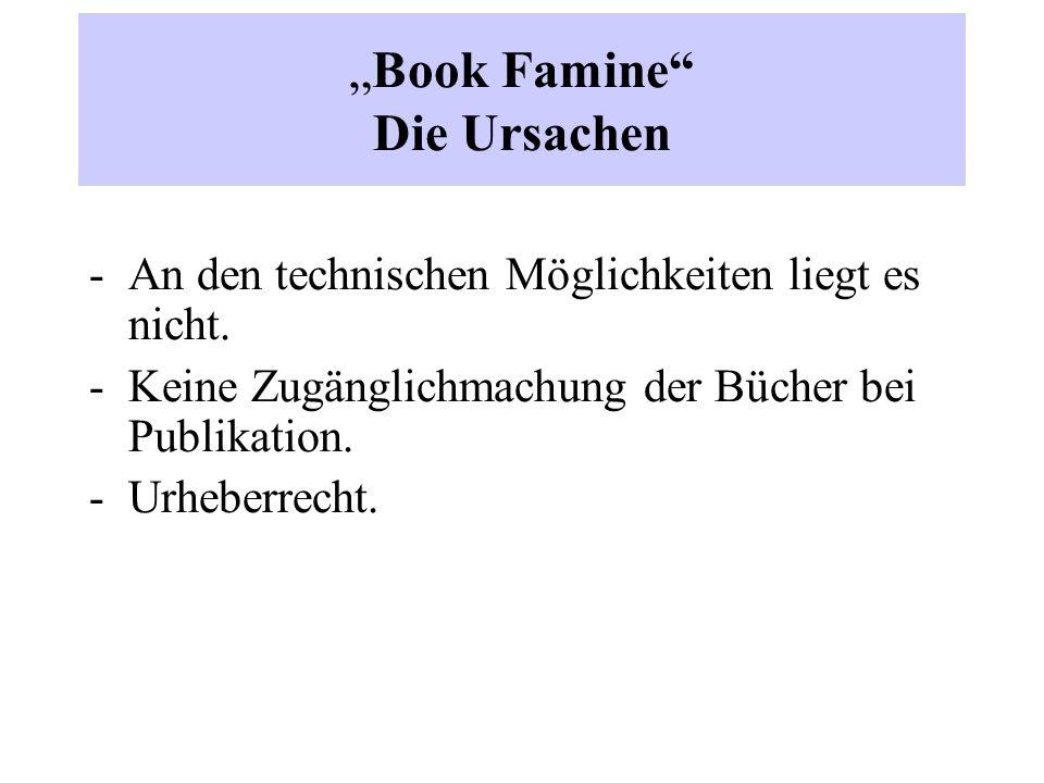 """""""Book Famine Die Ursachen -An den technischen Möglichkeiten liegt es nicht."""