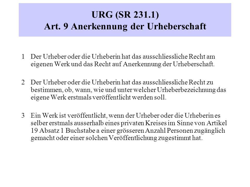 URG (SR 231.1) Art.