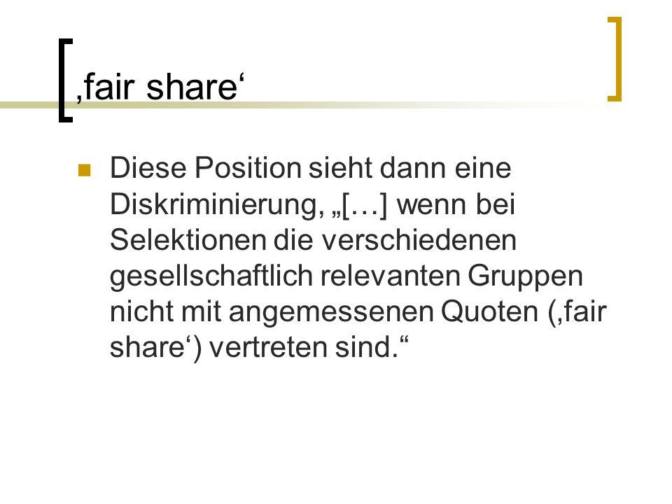 Fairnesskonzepte 1.Identitätskonzept 1. Entwicklung gruppenspezifischer Tests 2.