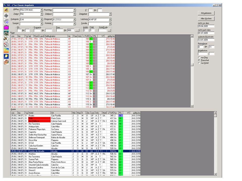 "Selektion und Buchung (bis Februar 2005) L'TUR Shops und Call-Center Selektions- und Buchungsapplikation ""BuBI V6 IBM iSeries (AS/400)"