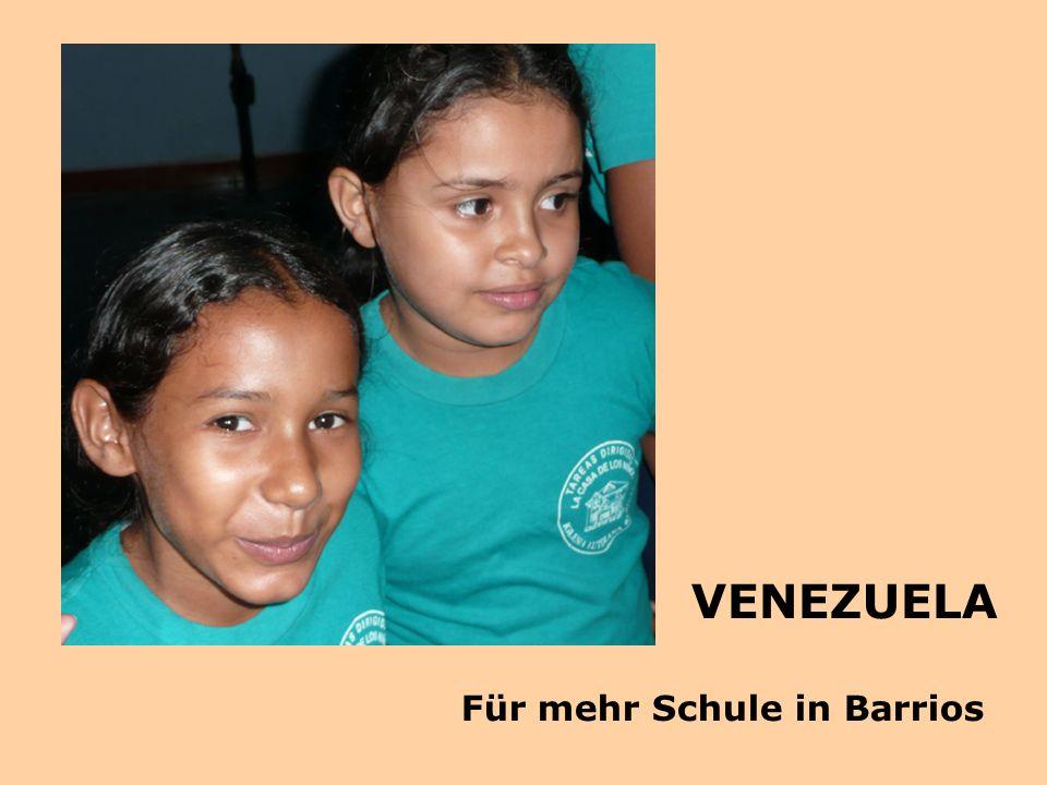 VENEZUELA Für mehr Schule in Barrios