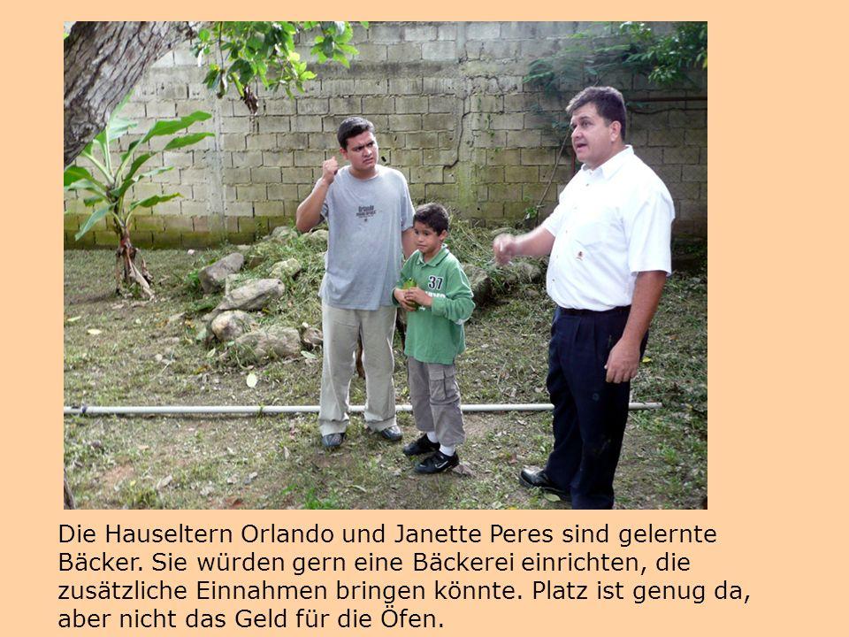 Die Hauseltern Orlando und Janette Peres sind gelernte Bäcker. Sie würden gern eine Bäckerei einrichten, die zusätzliche Einnahmen bringen könnte. Pla