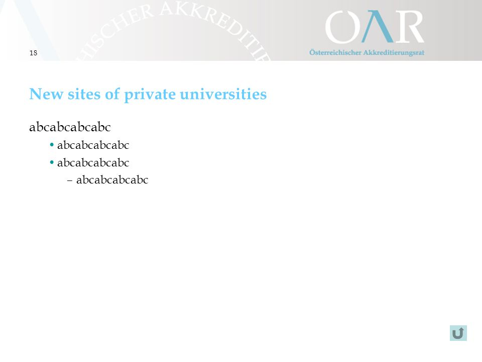 18 New sites of private universities abcabcabcabc –abcabcabcabc