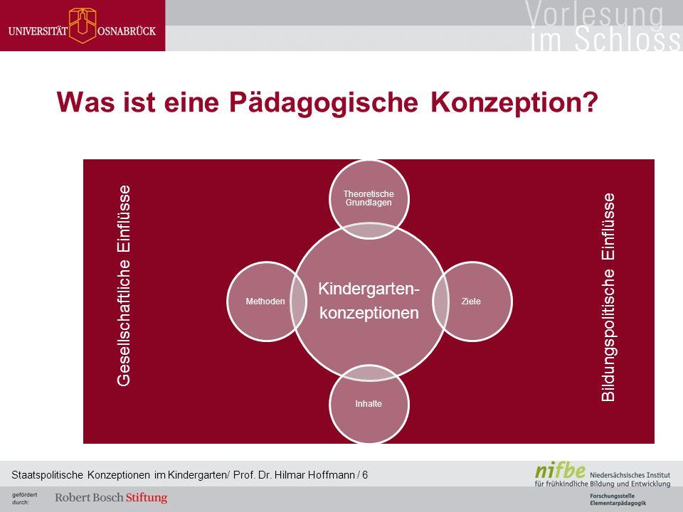 Was ist eine Pädagogische Konzeption. Staatspolitische Konzeptionen im Kindergarten/ Prof.