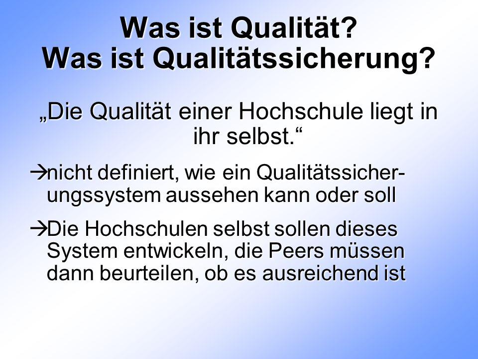 Was ist Qualität. Was ist Qualitätssicherung.
