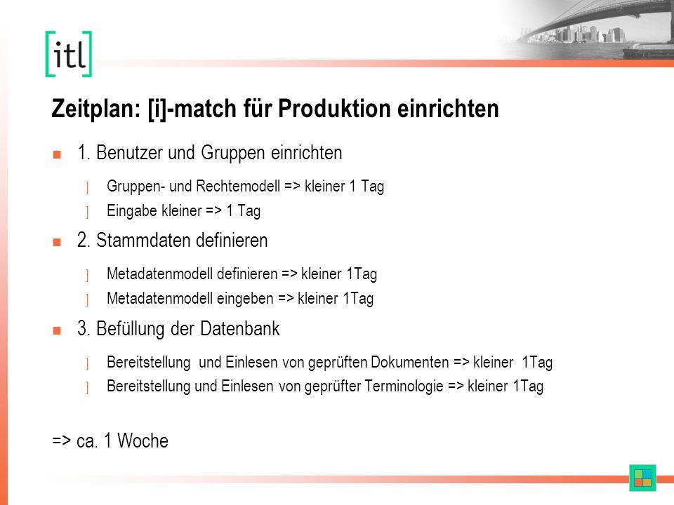 Zeitplan: [i]-match für Produktion einrichten n 1.