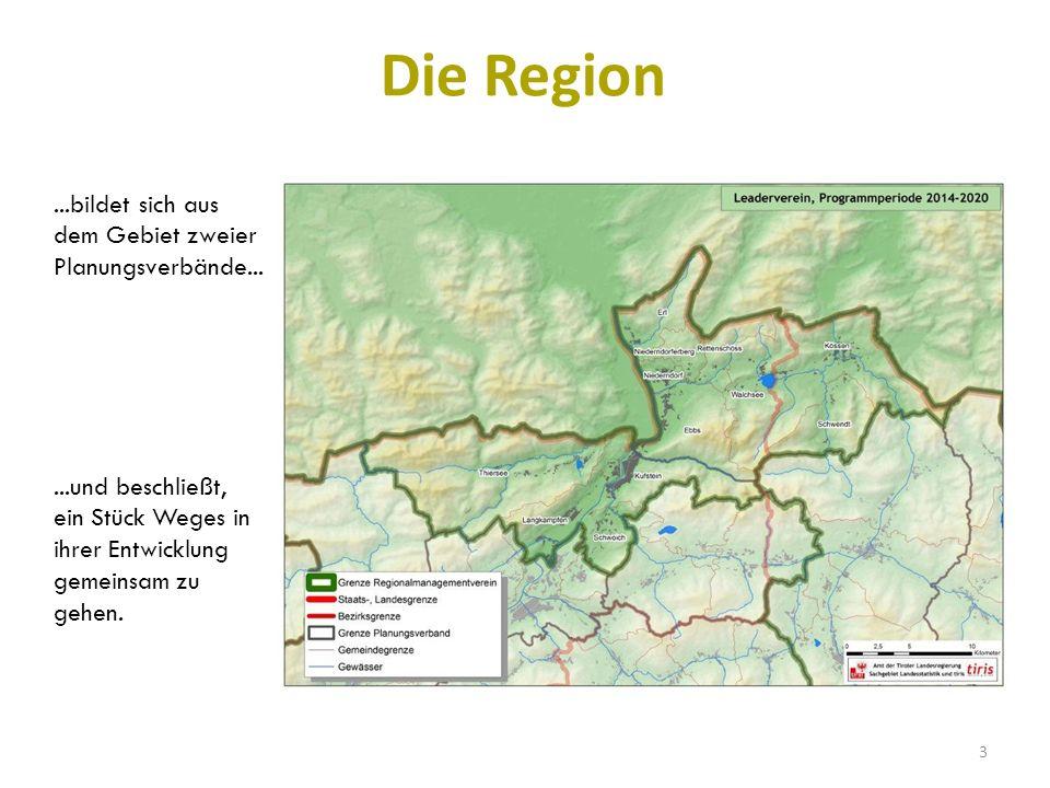 Die Region...und beschließt, ein Stück Weges in ihrer Entwicklung gemeinsam zu gehen....bildet sich aus dem Gebiet zweier Planungsverbände...
