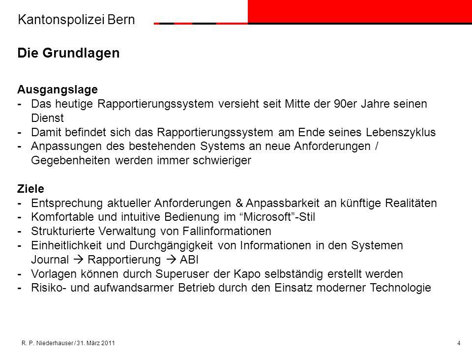 Kantonspolizei Bern R.P. Niederhauser / 31.