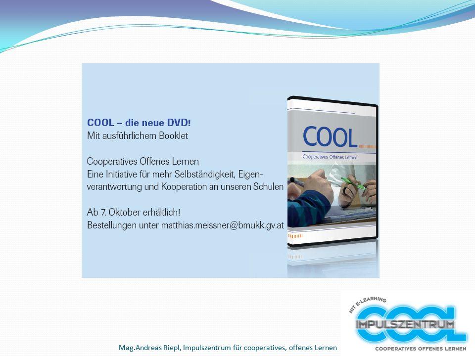 Mag.Andreas Riepl, Impulszentrum für cooperatives, offenes Lernen