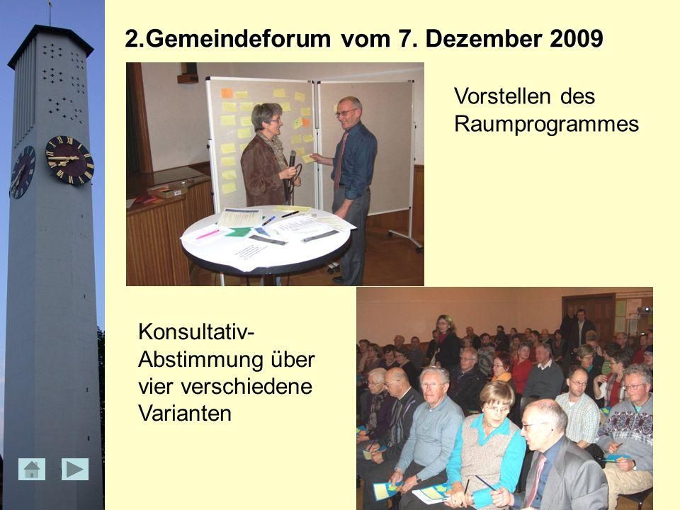 2.Gemeindeforum vom 7.