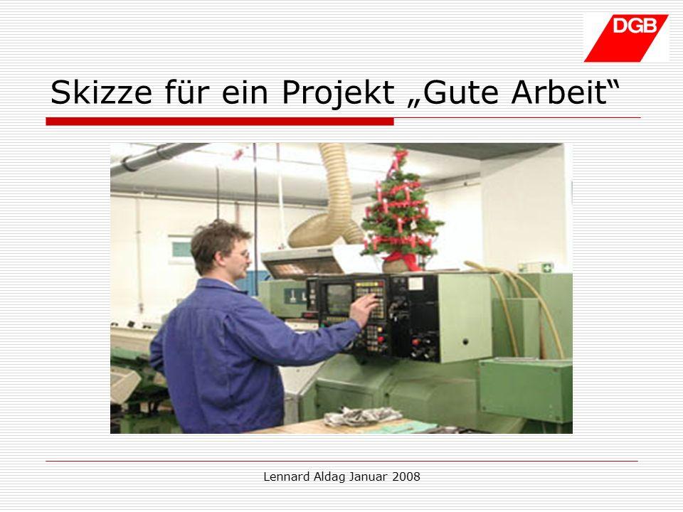"""Lennard Aldag Januar 2008 Skizze für ein Projekt """"Gute Arbeit"""