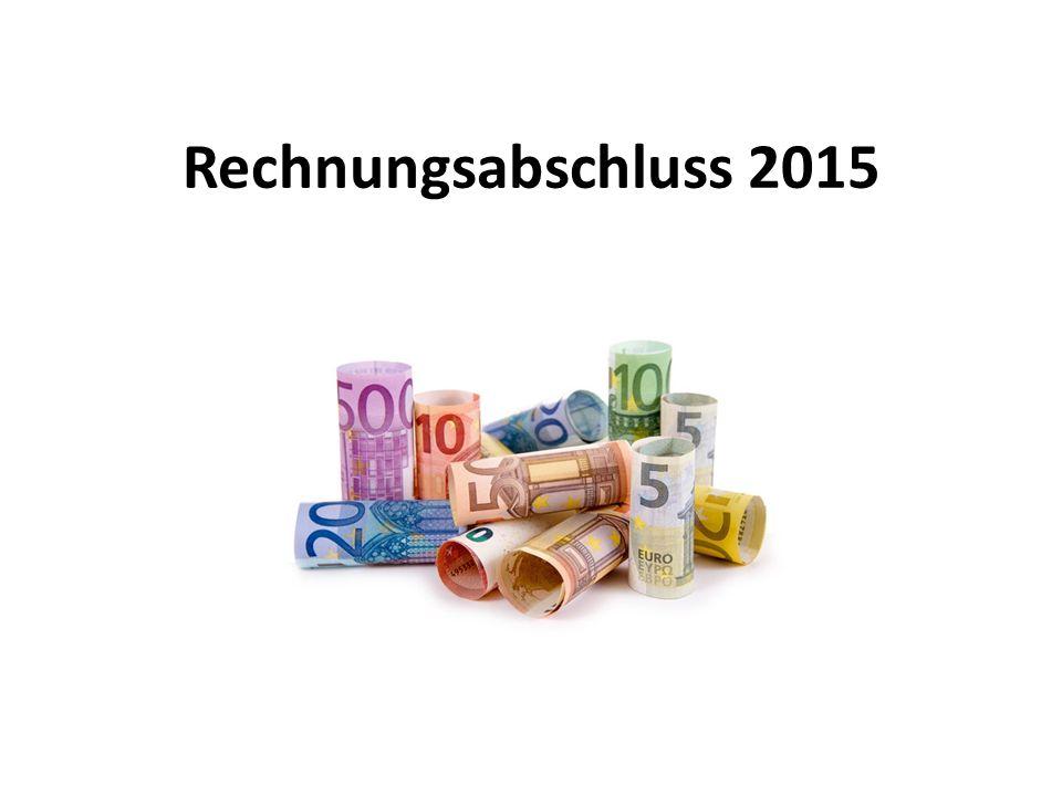 Rechnungsabschluss 2015