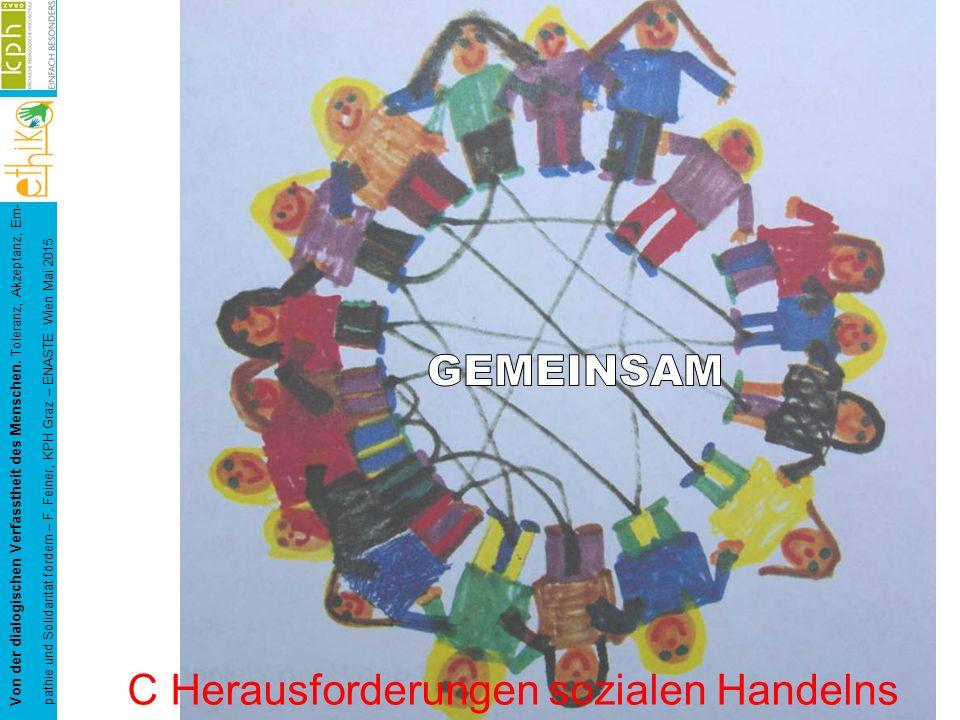 Von der dialogischen Verfasstheit des Menschen. Toleranz, Akzeptanz, Em- pathie und Solidarität fördern – F. Feiner, KPH Graz – ENASTE Wien Mai 2015 C