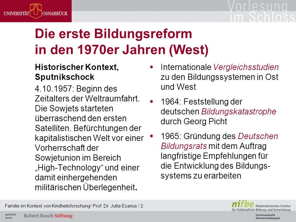 Die erste Bildungsreform in den 1970er Jahren (West) Historischer Kontext, Sputnikschock 4.10.1957: Beginn des Zeitalters der Weltraumfahrt. Die Sowje