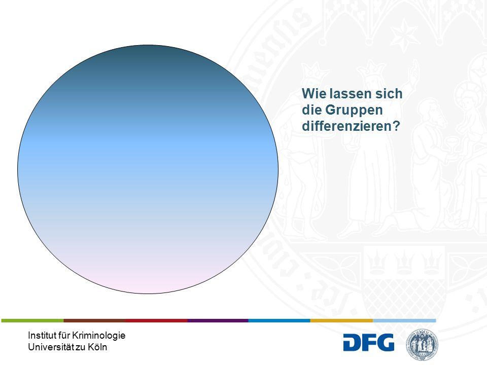 Institut für Kriminologie Universität zu Köln Wie lassen sich die Gruppen differenzieren?