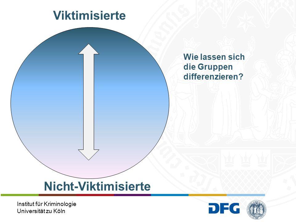 Institut für Kriminologie Universität zu Köln Wie lassen sich die Gruppen differenzieren.
