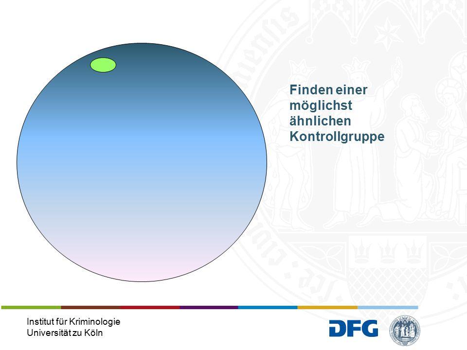 Institut für Kriminologie Universität zu Köln Finden einer möglichst ähnlichen Kontrollgruppe