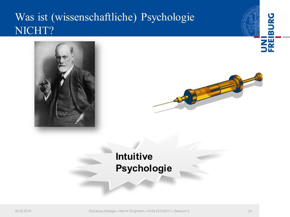 Was ist (wissenschaftliche) Psychologie NICHT.
