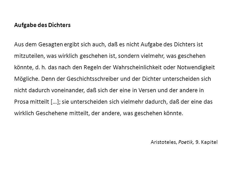 Aristoteles, Poetik, 9.