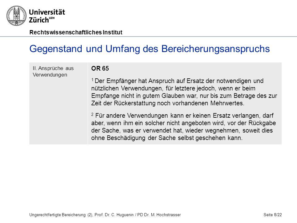 Rechtswissenschaftliches Institut Seite 19/22 X denkt, dass er Y CHF 5 000 schuldet.