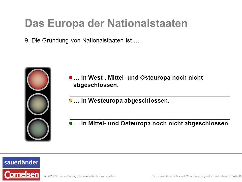 Schweizer Geschichtsbuch 2 Handreichungen für den Unterricht Folie 0© 2011 Cornelsen Verlag, Berlin. Alle Rechte vorbehalten. Das Europa der Nationals
