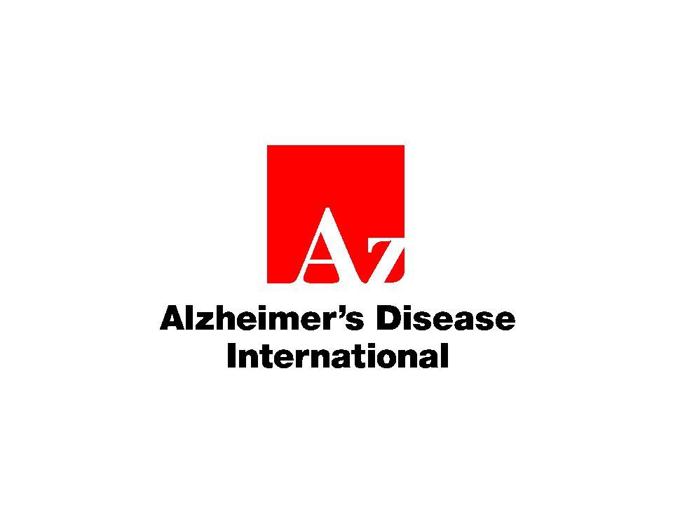 Alzheimer's Disease International (ADI) Gründung 1984 Dachverband von 79 nationalen Alzheimer- Vereinigungen Menschen mit Demenz und Familien Menschen mit Demenz sehr beteiligt Ziele: Nationale Alzheimervereinigungen in der ganzen Welt stärken, über Alzheimer und andere Demenzkrankheiten informieren, Demenz weltweit zu einer Priorität im Gesundheitswesen machen, Forschung fördern.
