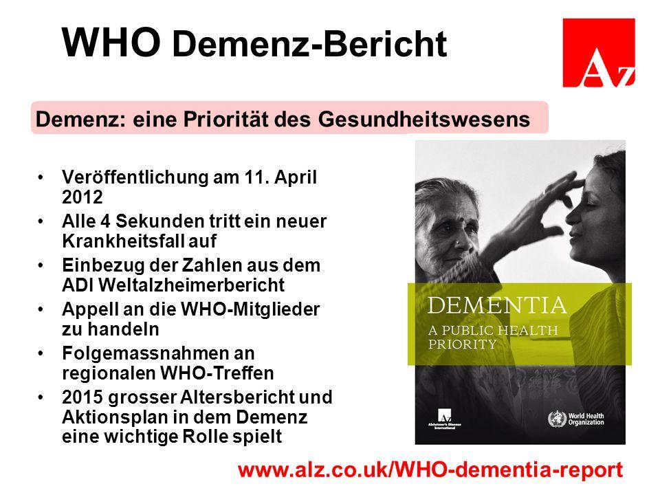 WHO Demenz-Bericht Veröffentlichung am 11.