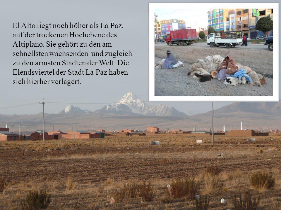El Alto liegt noch höher als La Paz, auf der trockenen Hochebene des Altiplano.