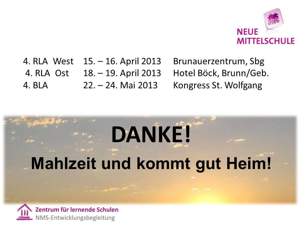 4.RLA West15. – 16. April 2013Brunauerzentrum, Sbg 4.
