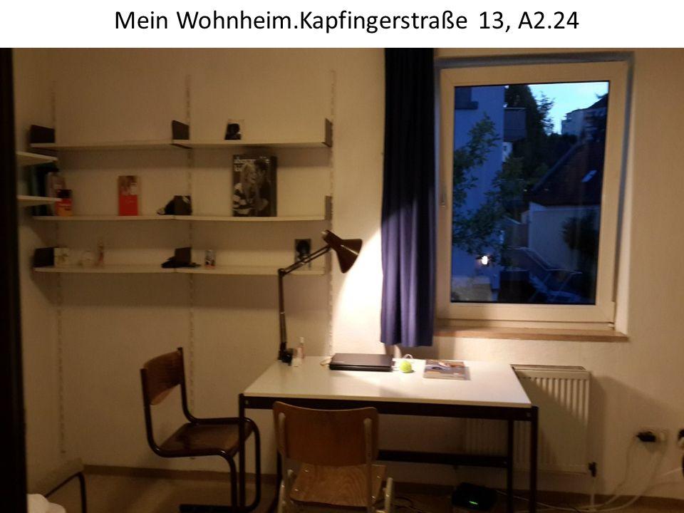 Mein Wohnheim.Kapfingerstraße 13, A2.24