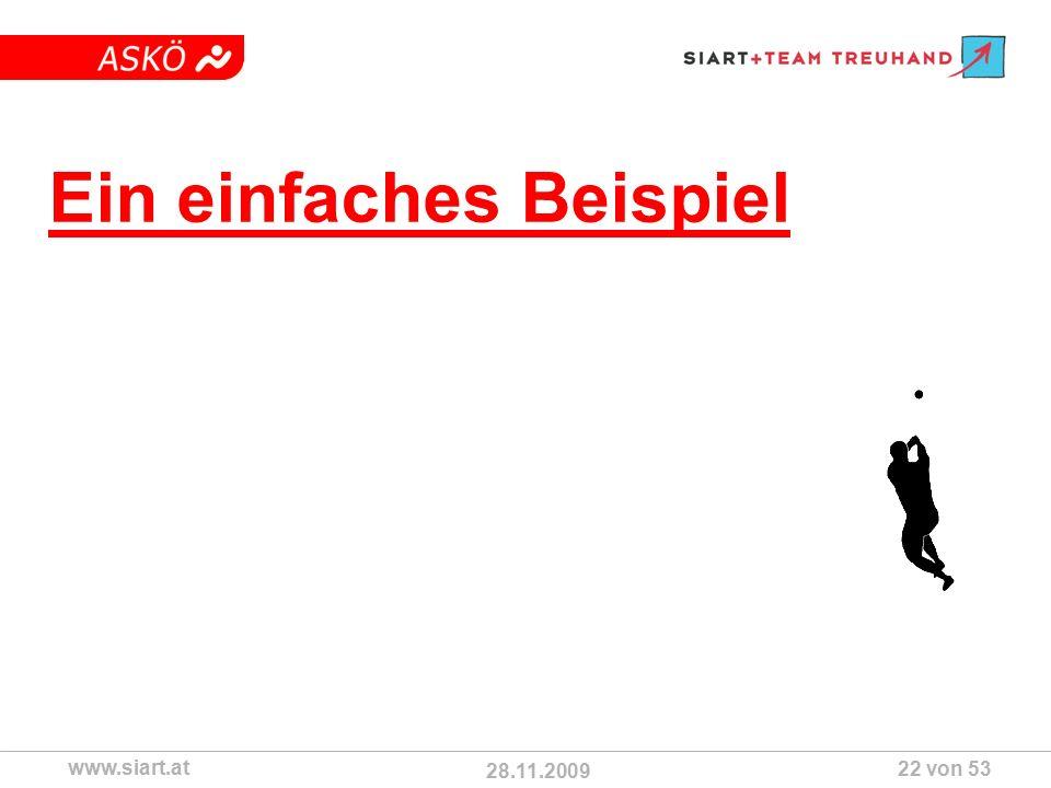 28.11.2009 ASKÖ www.siart.at 22 von 53 Ein einfaches Beispiel