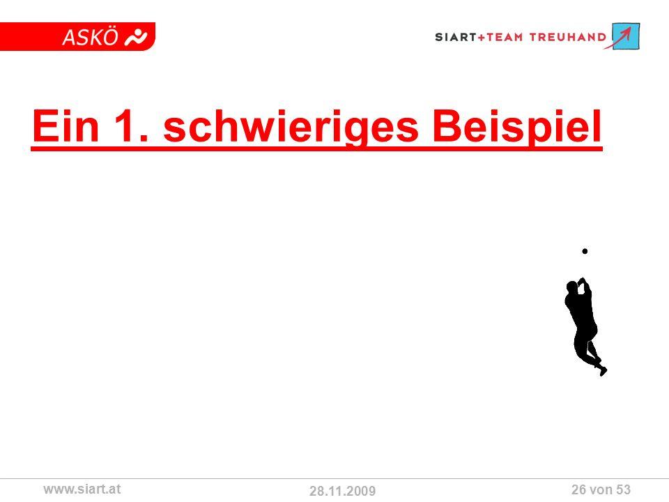 28.11.2009 ASKÖ www.siart.at 26 von 53 Ein 1. schwieriges Beispiel