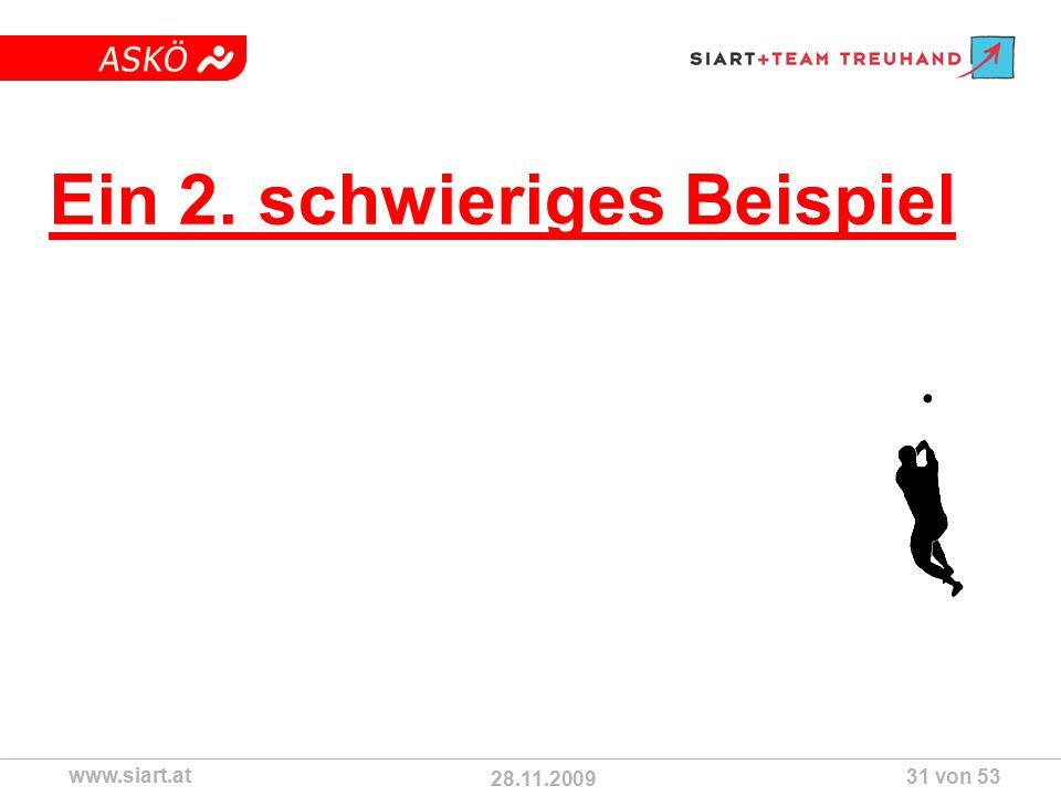 28.11.2009 ASKÖ www.siart.at 31 von 53 Ein 2. schwieriges Beispiel