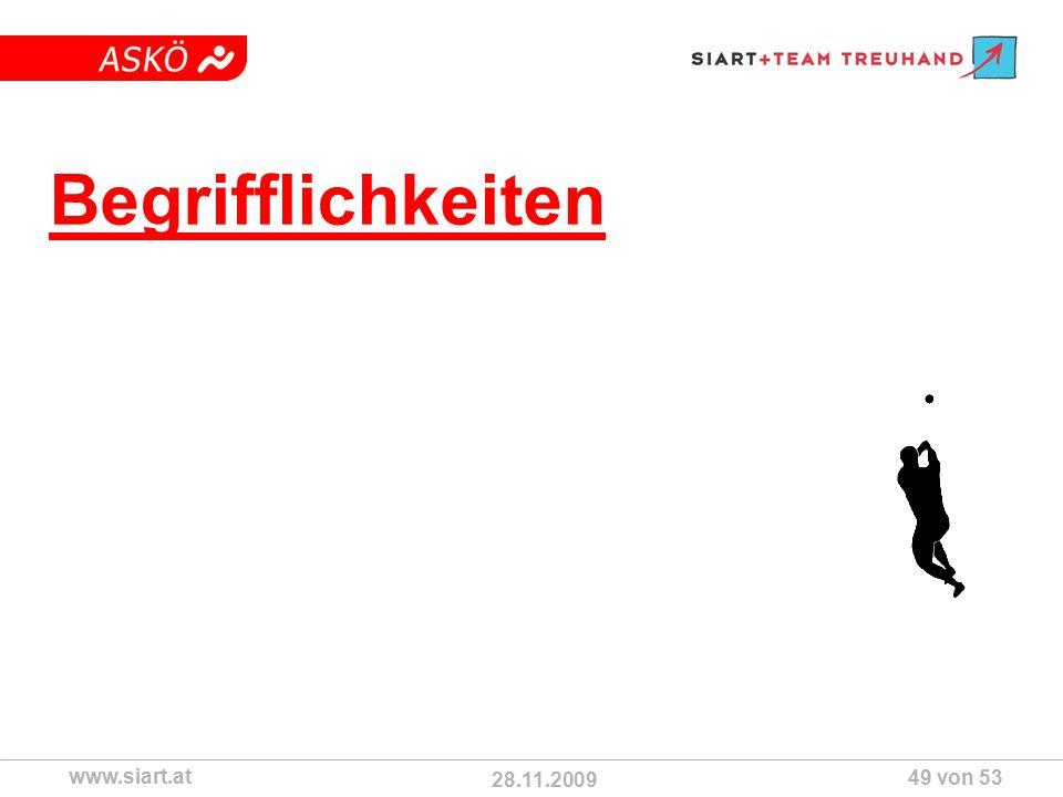 28.11.2009 ASKÖ www.siart.at 49 von 53 Begrifflichkeiten