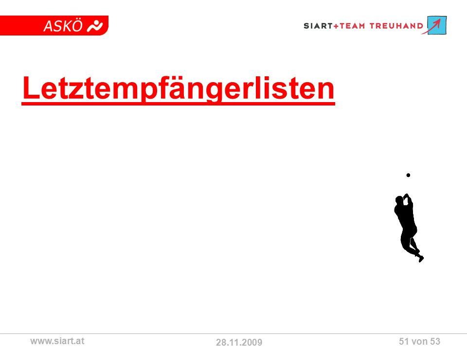 28.11.2009 ASKÖ www.siart.at 51 von 53 Letztempfängerlisten