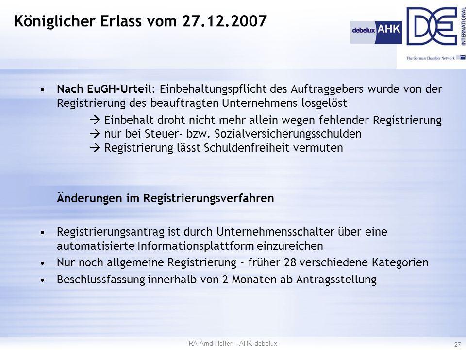 Nach EuGH-Urteil: Einbehaltungspflicht des Auftraggebers wurde von der Registrierung des beauftragten Unternehmens losgelöst  Einbehalt droht nicht mehr allein wegen fehlender Registrierung  nur bei Steuer- bzw.