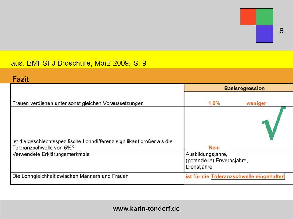 www.karin-tondorf.de aus: BMFSFJ Broschüre, März 2009, S. 9 8