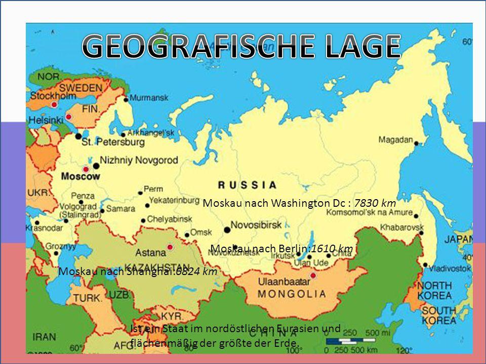 Ist ein Staat im nordöstlichen Eurasien und flächenmäßig der größte der Erde.